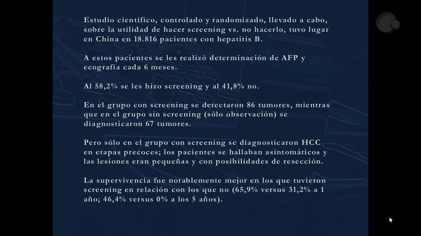HCC: Screening ecográfico