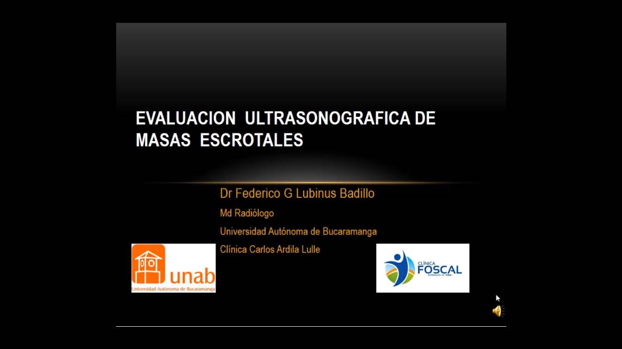 Evaluación ecográfica de masas escrotales